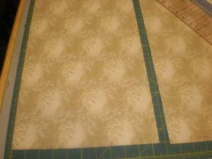 Photo 2: Cut two 10.5in strips.