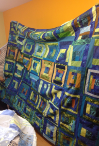 Learn to quilt student's quilt